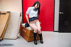Student Lowering Her Panties