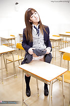 Standing in classroom masturbating pussy on corner of desk