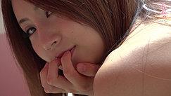 Looking Back Fingertips On Her Lips