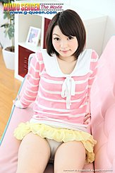 Skirt Raised Up Over Her Camel Toe Panties Leaning Back On Couch Short Hair In Pink Top