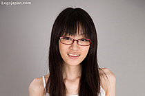 Mikami Ayaka In Glasses Strips Short Skirt And Spreads Her Legs