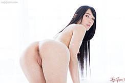 Kneeling Nude Leaning Forward Long Hair Bare Ass Anus And Labia Exposed