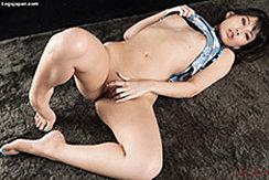 Lying On Her Back Legs Open Spreading Her Pussy Bare Feet